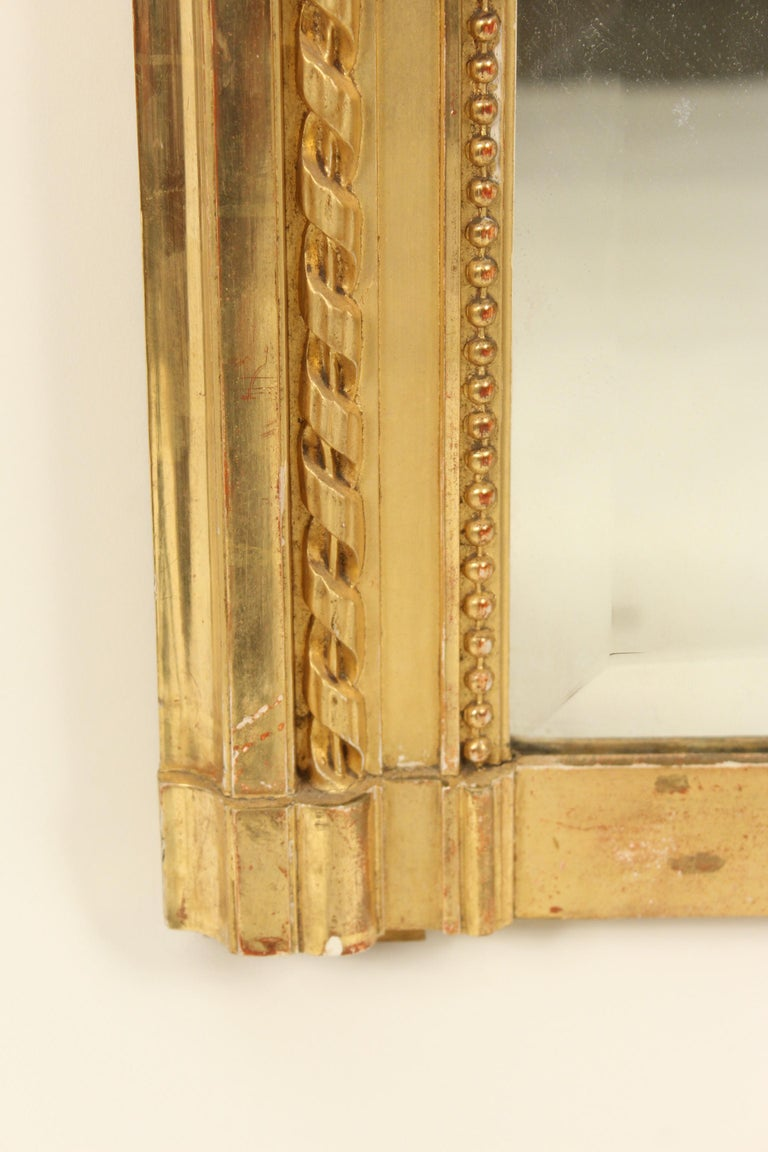 Louis XVI Style Giltwood Mirror For Sale 1