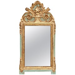 Louis XVI Style Giltwood and Painted Mirror