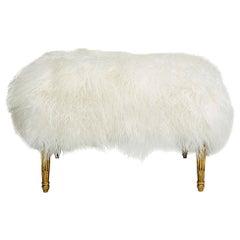 Louis XVI Style Giltwood Fur Tabouret