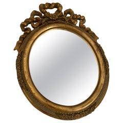 Louis XVI Style Giltwood Oval Mirror
