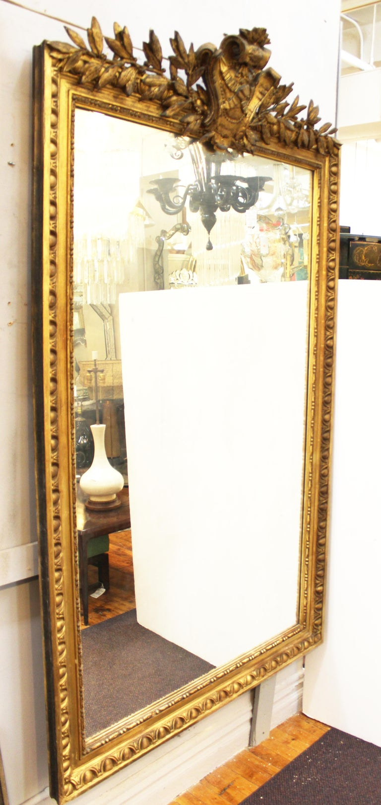 Louis XVI Style Giltwood Wall Mirror For Sale 7