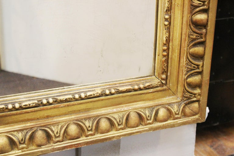 Louis XVI Style Giltwood Wall Mirror In Good Condition For Sale In New York, NY