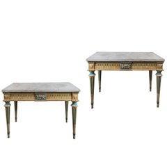 Louis XVI Style, Hand-Painted, Italian Consoles