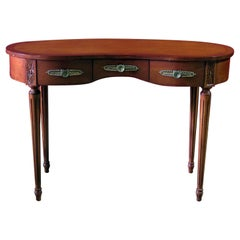 Louis XVI Style Inlaid Writing Desk