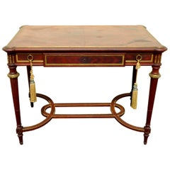 Louis XVI Style Library or Center Table by Sosthène Bellanger