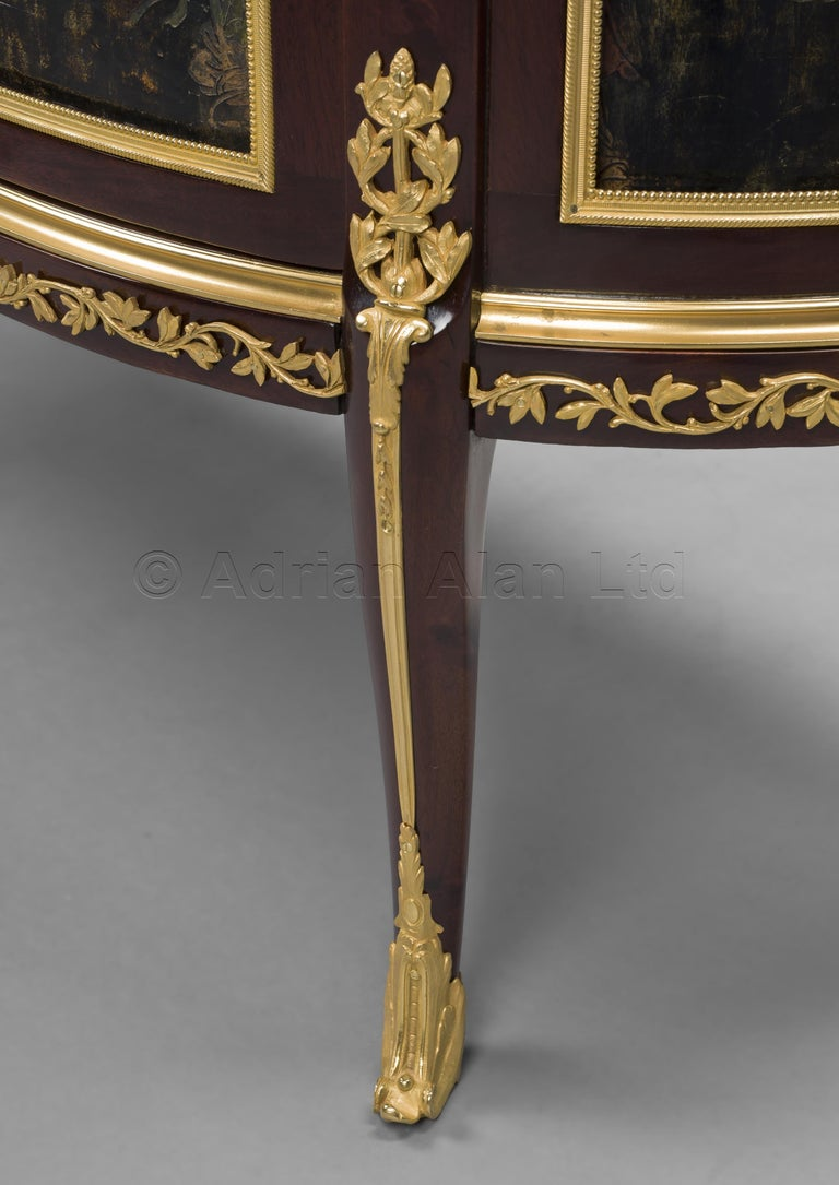 Louis XVI Style Mahogany and Lacquer Commode by François Linke, circa 1890 For Sale 1