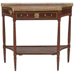 Louis XVI Style Mahogany and Mahogany-Veneer Console