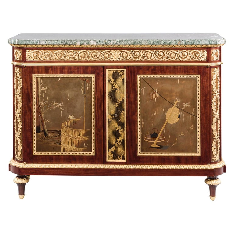 Louis XVI Style Commode À Vantaux by Alfred-Emmanuel-Louis Beurdeley, 1898 For Sale