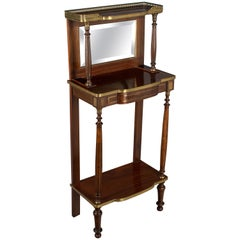Louis XVI Style Mahogany Console with Mirror