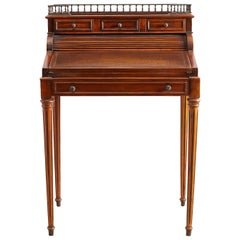 Louis XVI Style Mahogany Tambour Writing Table
