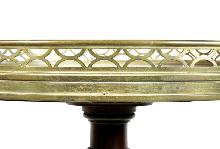 Louis XVI Style Mahogany Two-Tier Stand by Escalier De Christa In Good Condition For Sale In Essex, MA
