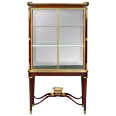 Louis XVI Style Mahogany Vitrine by Alfred Louis Beurdeley, circa 1880