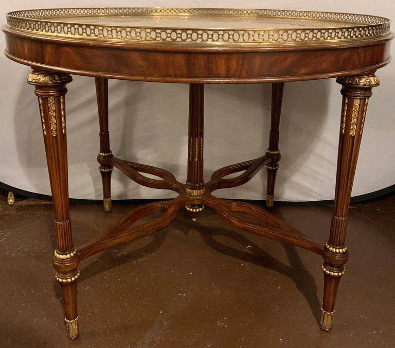 Louis XVI style Maitland Smith center card or small dining table  Greg hxxx/ZSXA.