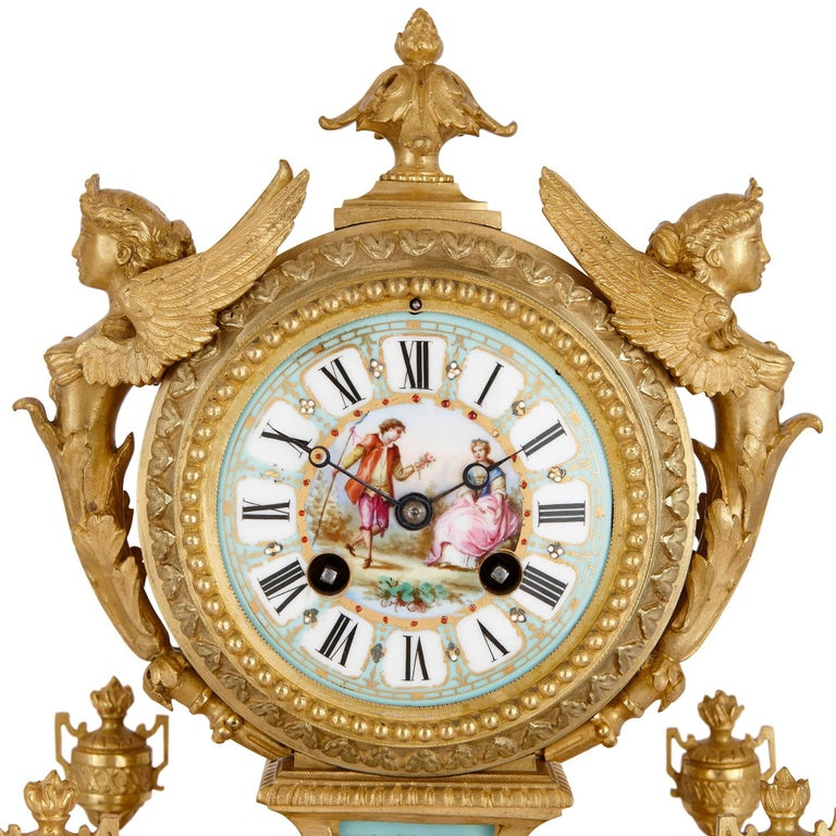 French Louis XVI Style Mantel Clock by Ernest Royer For Sale
