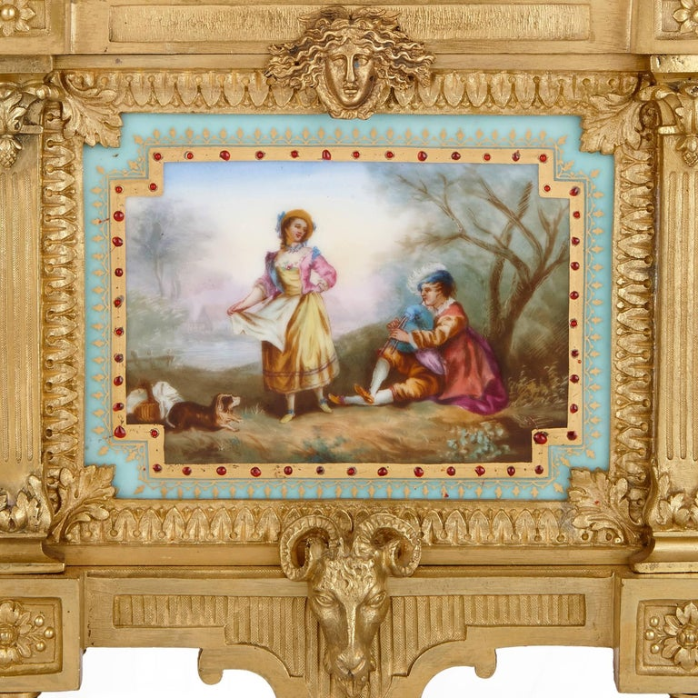Louis XVI Style Mantel Clock by Ernest Royer In Excellent Condition For Sale In London, GB