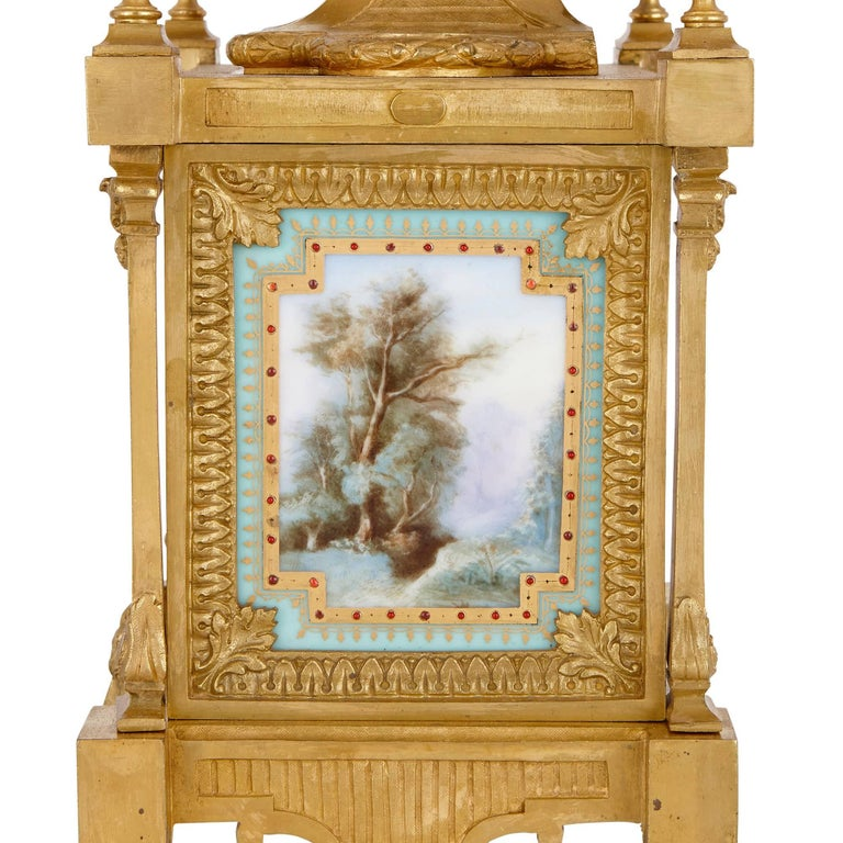 19th Century Louis XVI Style Mantel Clock by Ernest Royer For Sale