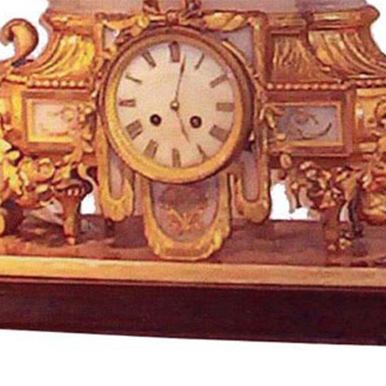 Louis XVI Style Mantel Clock For Sale 2