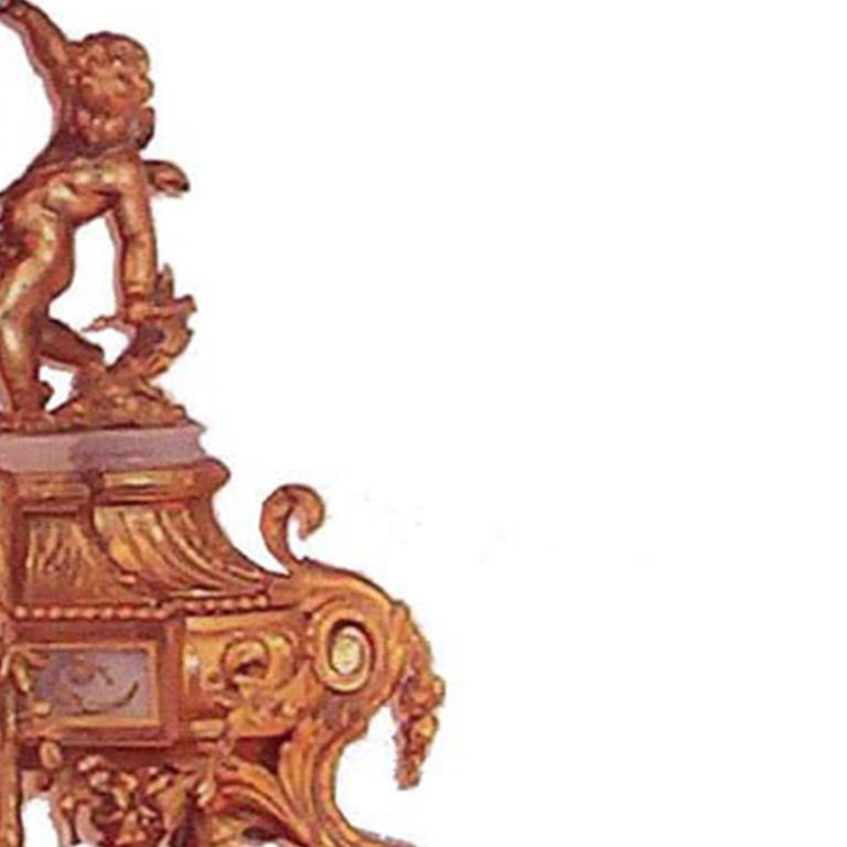 Louis XVI Style Mantel Clock For Sale 1
