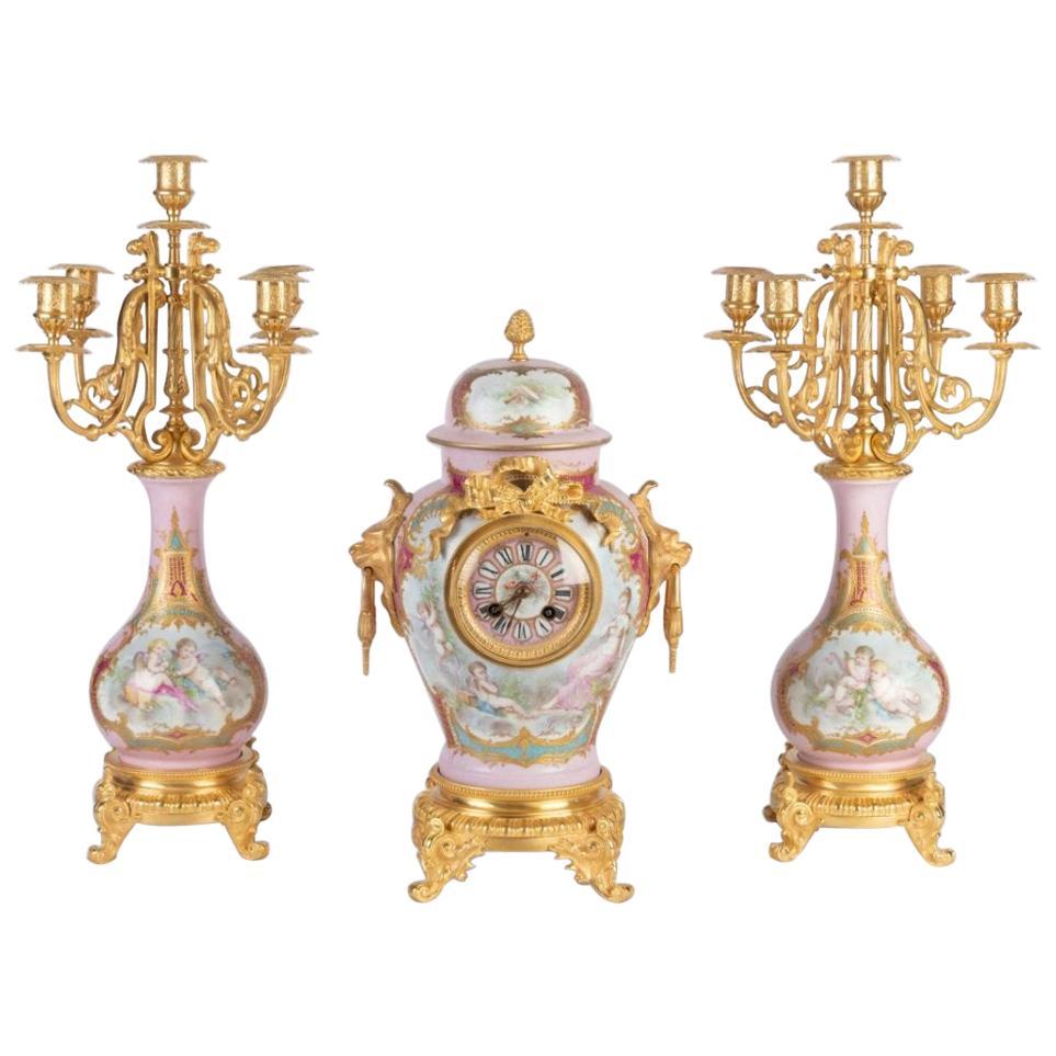 Louis XVI Style Mantelpiece in Bronze