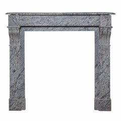 "Louis XVI Style ""Marble Gris"" Mantel, Late 19th Century"