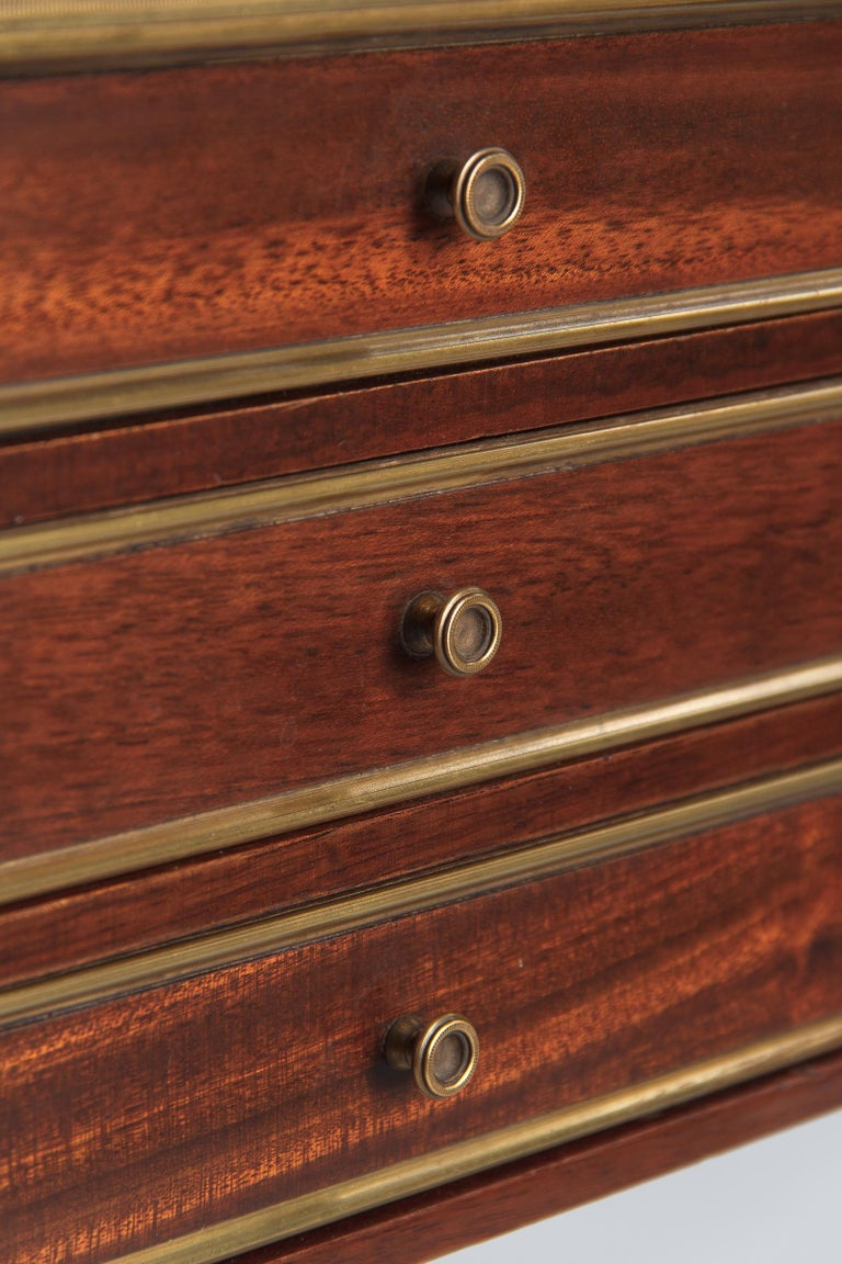 Louis XVI Style Mahogany and Marble-Top Bedside Cabinet, 1920s For Sale 7