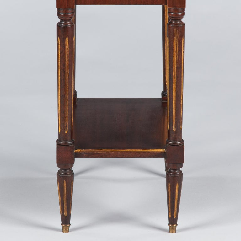 Louis XVI Style Mahogany and Marble-Top Bedside Cabinet, 1920s For Sale 10
