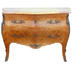 Louis XVI Style Marble-Top Commode