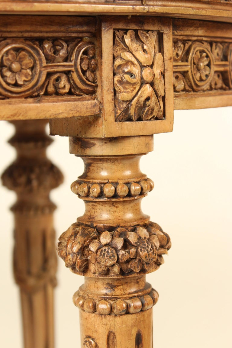Louis XVI Style Marble-Top Occasional Table For Sale 6