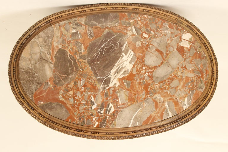 Louis XVI Style Marble-Top Occasional Table For Sale 1