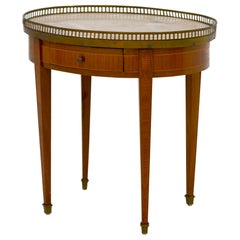 Louis XVI Style Marble-Top Side Table