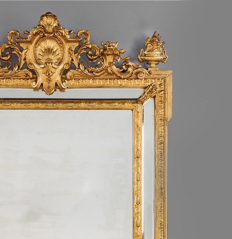 A fine Louis XVI style marginal frame mirror.