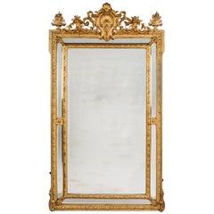 Louis XVI Style Marginal Frame Mirror, French, circa 1890