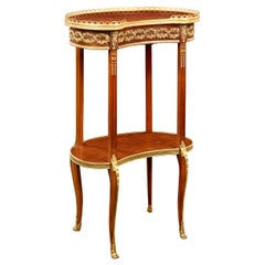 Louis XVI-Style Marquetry Side Table