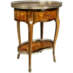 Louis XVI Style Marquetry Table A' Ecrire