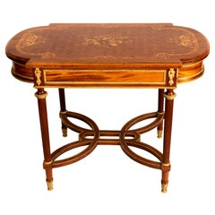 Louis XVI Style Marquetry Table