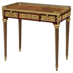 Louis XVI Style Marquetry Writing Table after Jean-Henri Riesener, circa 1870
