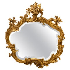 Louis XVI Style Mirror over the Mantel Wall or Console Beveled Glass