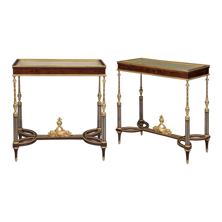 Louis XVI Style Mounted Vitrine Tables, Georges-François Alix, French circa 1890 For Sale