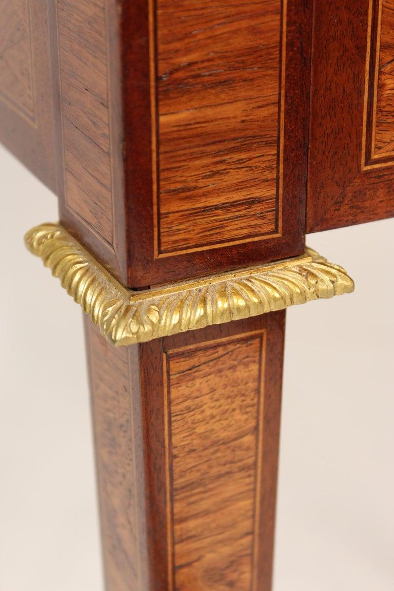 Louis XVI Style Napkin Fold Games Table, Signed Haentges, Paris For Sale 4