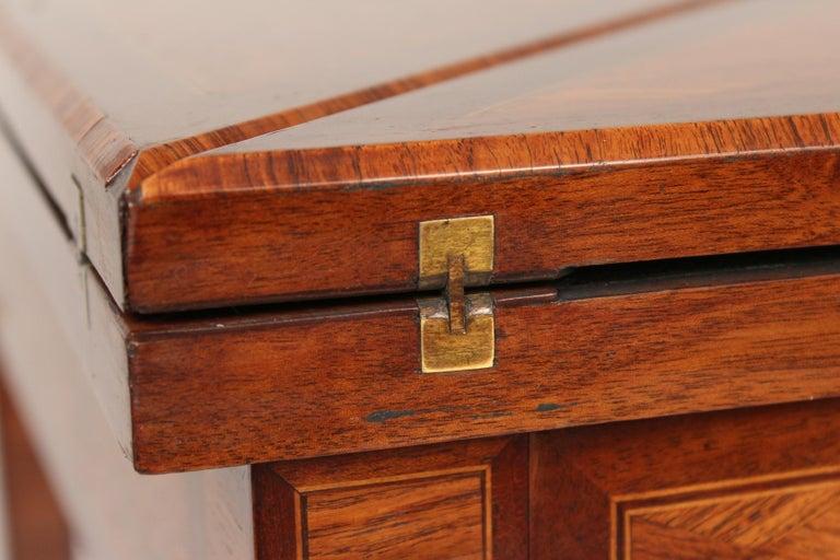 Louis XVI Style Napkin Fold Games Table, Signed Haentges, Paris For Sale 5