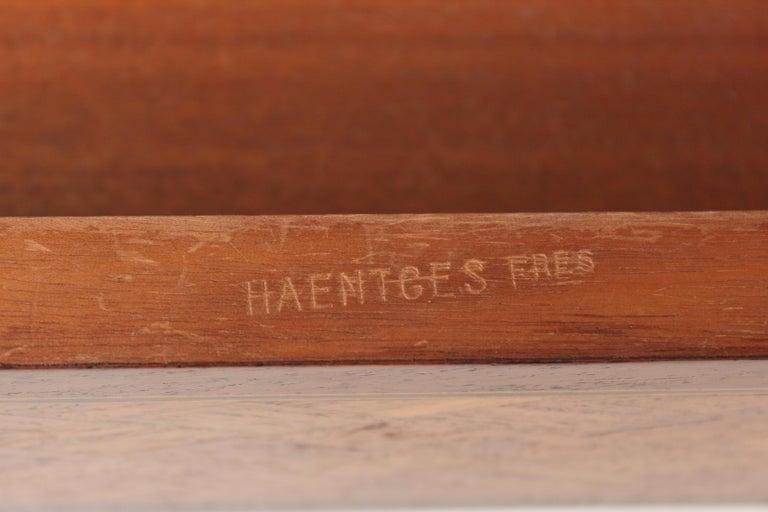 Louis XVI Style Napkin Fold Games Table, Signed Haentges, Paris For Sale 8