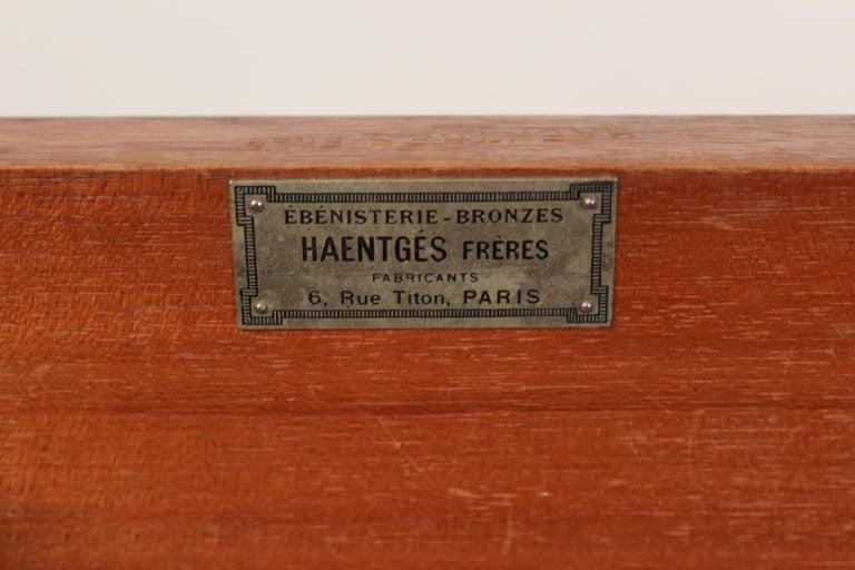 Louis XVI Style Napkin Fold Games Table, Signed Haentges, Paris For Sale 9