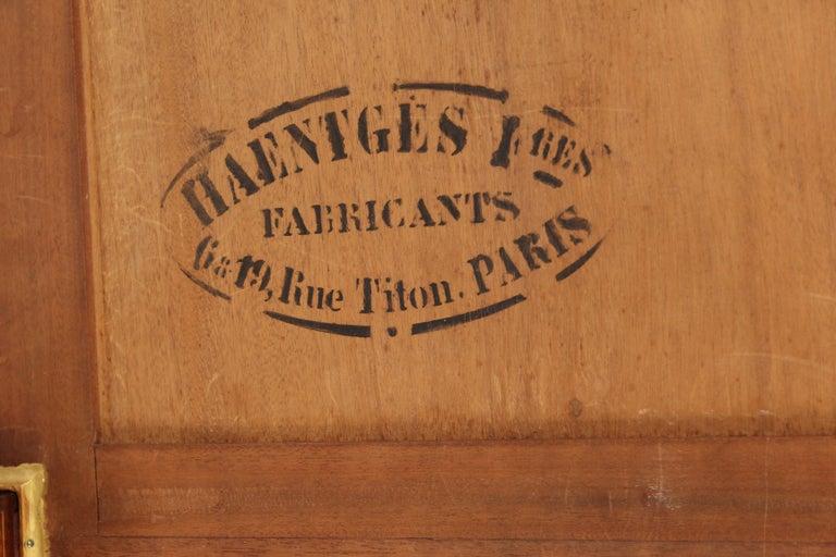 Louis XVI Style Napkin Fold Games Table, Signed Haentges, Paris For Sale 10