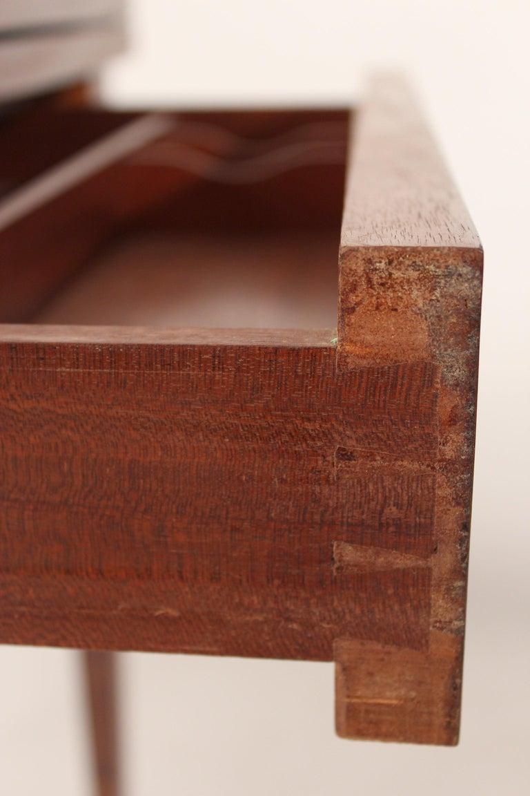 Louis XVI Style Napkin Fold Games Table, Signed Haentges, Paris For Sale 11