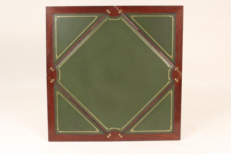 Louis XVI Style Napkin Fold Games Table, Signed Haentges, Paris For Sale 1