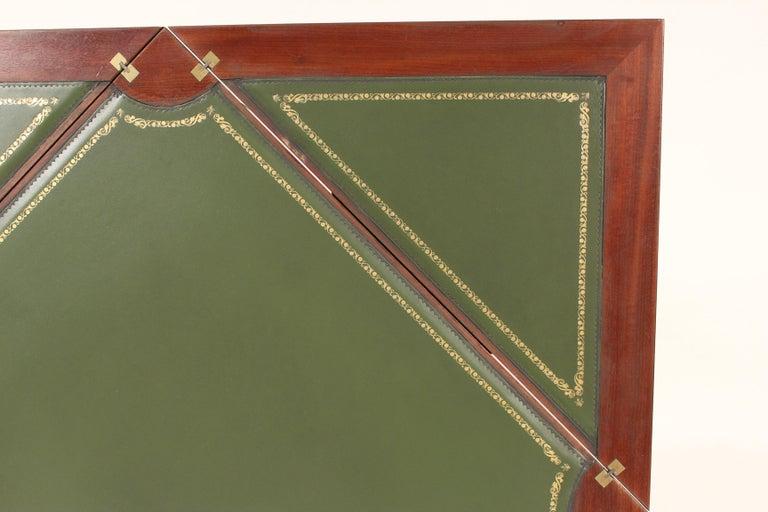 Louis XVI Style Napkin Fold Games Table, Signed Haentges, Paris For Sale 2