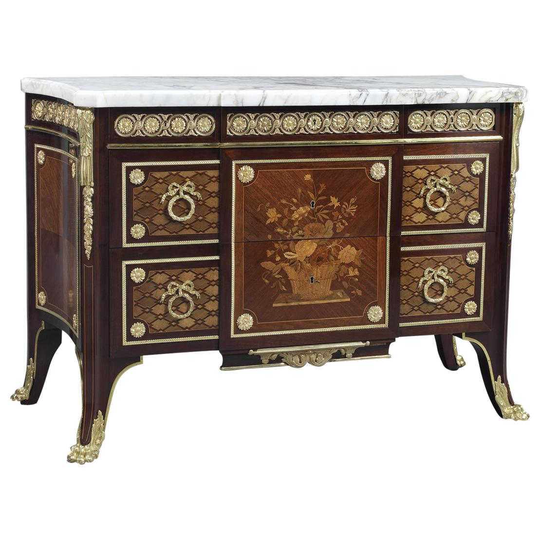 Louis XVI Style Neoclassical Commode in the Manner of Riesener, circa 1890