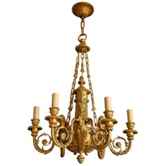 Louis XVI Style Neoclassical Ormolu 6-Light Chandelier by Alfred Beurdeley