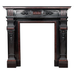 Louis XVI Style Noir de Mazy Antique Fireplace