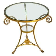Louis XVI Style Ormolu & Baccarat Crystal Gueridon